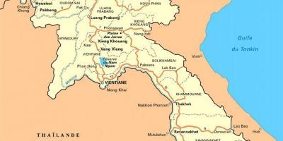 kart over laos Laos kart   Kart Laos (Sør Øst Asia   Asia) kart over laos